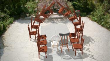 Dansende trouwstoelen