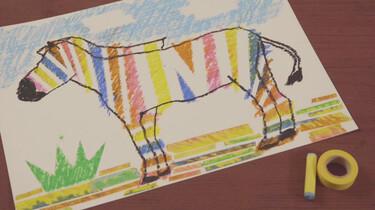 Hoe teken je een zebra met schilderstape?