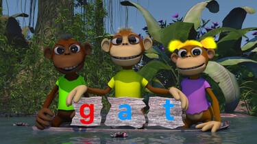 Letterjungle: De letter g: gat