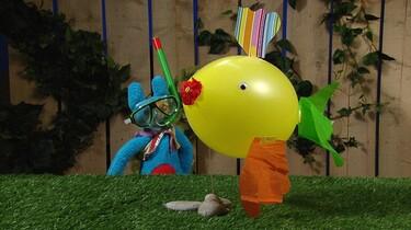 Visballon maken