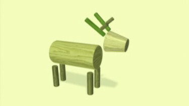 Een hert van blokken: Blokken worden dieren