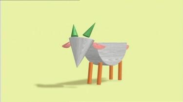 Een geit van blokken: Blokken worden dieren