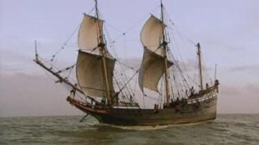 Slavenschepen varen naar de nieuwe wereld
