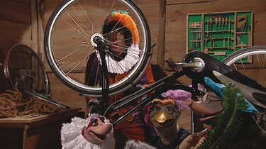 Zwarte Piet ging uit fietsen