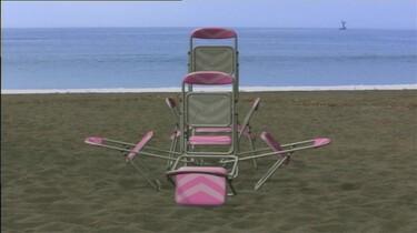 Dansende strandstoelen: Stoelen dansen