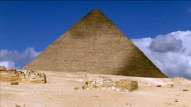 De bouw van een Egyptische piramide