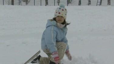 Lulu gaat schaatsen