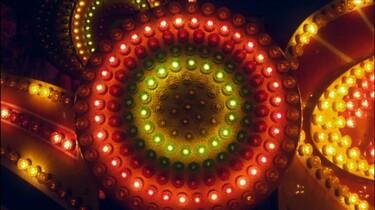 Lampjes op de kermis
