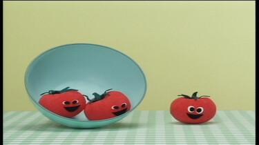 Spelende tomaatjes
