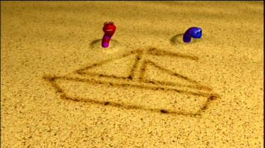 Zandworm op zee