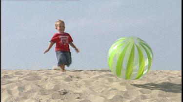 Rollebollen door het zand