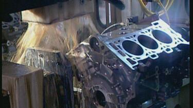 De motor van een auto