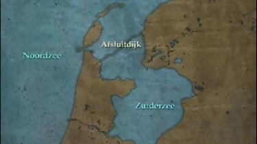 De bouw van de Afsluitdijk