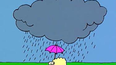 Het regent!