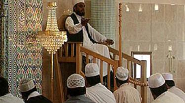 Moslims in de moskee