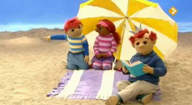 Het Zandkasteel: Onder de parasol