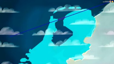 De afsluitdijk, te zien vanuit de ruimte