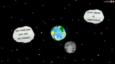 Waarom draait de maan rond de aarde?