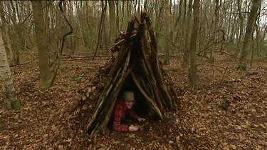 Hoe bouw je een hut in het bos?