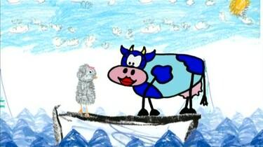 Blauwe koe wil knuffelen