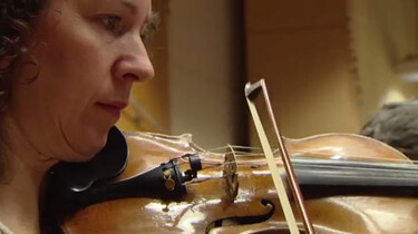 De strijkers van het Metropole-orkest