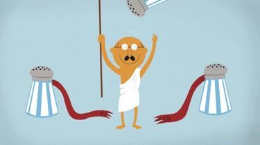 Clipphanger: Wie was Gandhi?