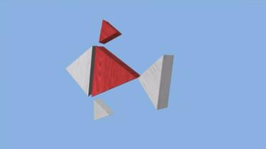 Blokken worden dieren: Een goudvis van blokken