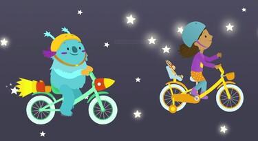 Sarah houdt van fietsen