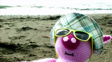 Muc gaat naar het strand