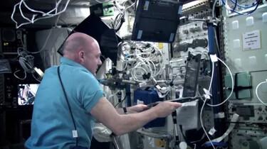Aan boord van het ISS
