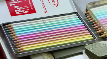 Hoe worden kleurpotloden gemaakt?