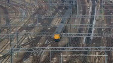 Een druk spoorwegnetwerk