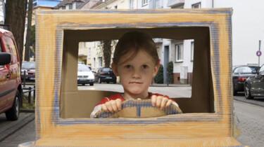 Rijden in een zelfgemaakte auto