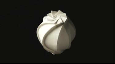 Een origami kunstwerk