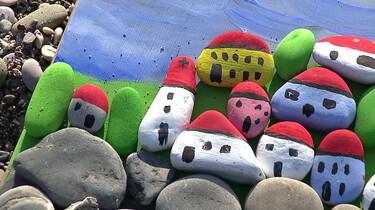 Maak je eigen mozaïek van stenen