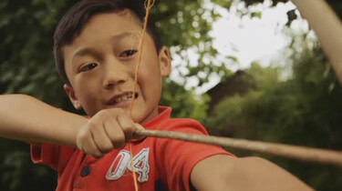 Make your own bow and arrow