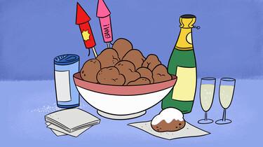 Clipphanger: Waarom eten we oliebollen met Oud en Nieuw?