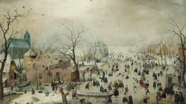 Topstukken van het Rijksmuseum: Winterlandschap met schaatsers van Hendrick Avercamp