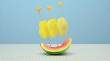 Een bootje van meloen