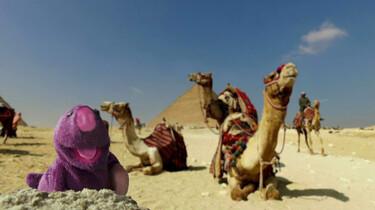 Molletje bij de piramides