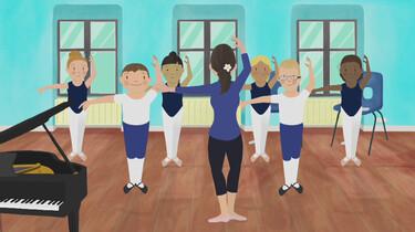 Boys on ballet