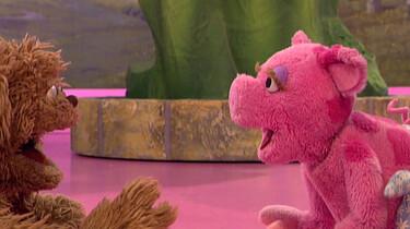 Een roze tijger