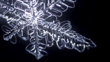 Hoe ziet een sneeuwvlok eruit onder de microscoop?