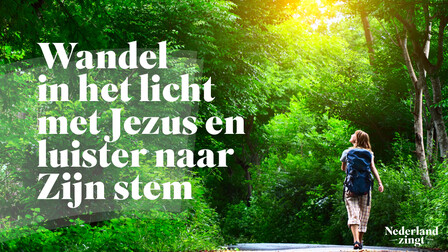 Afbeelding bij lied: Ik wandel in het licht met Jezus