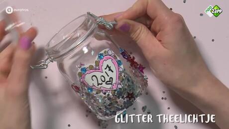 Jills Bonus DIY: Glitter theelichtje