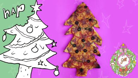 Kerstboompizza