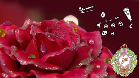Glitterbloem diadeem