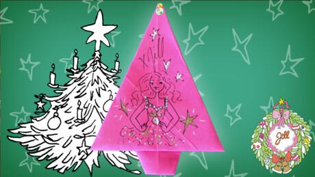 Kerstboomservet vouwen