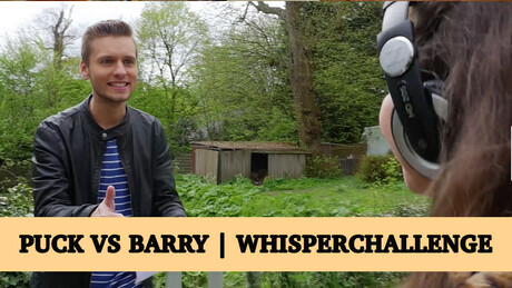Puck vs Barry | Whisper Challenge