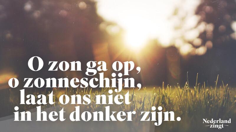 Nederland Zingt lied delen: Psalm 128